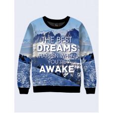 Mens 3D-print sweatshirt - Cherished dreams. Long sleeve. Made in Ukraine.