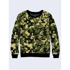 Mens 3D-print sweatshirt - Camouflage. Made in Ukraine.