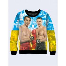 Mens 3D-print sweatshirt - Klitschko, boxing. Made in Ukraine.