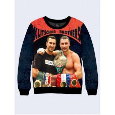 Mens 3D-print sweatshirt - Brothers Klitschko. Made in Ukraine.