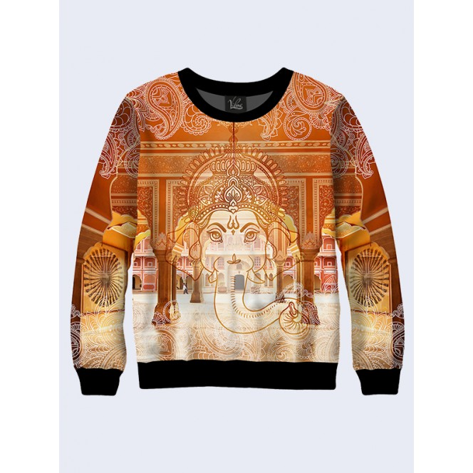 Mens 3D-print sweatshirt - Culture of India. Long sleeve. Made in Ukraine.
