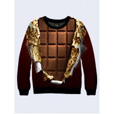 Mens 3D-print sweatshirt - Chocolate bar. Long sleeve. Made in Ukraine.