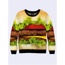 Mens 3D-print sweatshirt - Cheeseburger. Made in Ukraine.