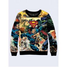 Mens 3D-print sweatshirt - DC Comics Superman. Long sleeve. Made in Ukraine.