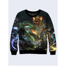 Mens 3D-print sweatshirt - Dota, characters. Long sleeve. Made in Ukraine.