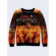 Mens 3D-print sweatshirt - Game Mortal Kombat. Long sleeve. Made in Ukraine.