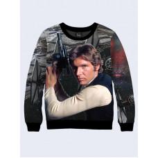 Mens 3D-print sweatshirt - Han Solo, Star Wars. Long sleeve. Made in Ukraine.