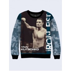 Mens 3D-print sweatshirt. Ukrainian boxer - Vitali Klitschko. Made in Ukraine.