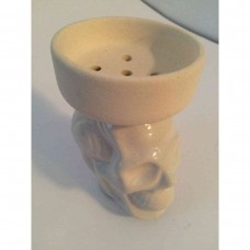 Bowl for a hookah faience (Skull)
