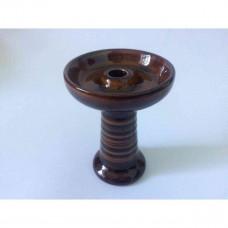 Bowl for a hookah ceramic glazurirovanny brown I fanet