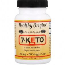 7 Keto Dehydroepiandrosterone, 7-Keto, Healthy Origins, 100 mg, 60 Capsules, 14175