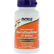Probiotics (Dophilus) Berry Flavor, Berry Dophilus, Now Foods, 50 Tablets, 22445