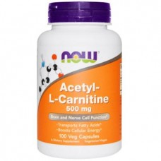 Acetyl-L Carnitine, Now Foods, 500 mg, 100 Capsules, 02757
