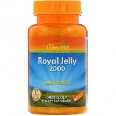 Royal Jelly, Royal Jelly, Thompson, 2000 mg, 60 capsules, 27720