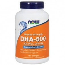 Fish Oil, Double Strength, DHA-500, Now Foods, 90 Capsules, 30278