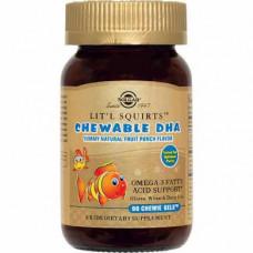 Kids Chewable DHA, Goldfish, Lit'l Squirts, Solgar, 90 Chewable Softgels, 30578