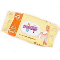 Wet wipes with calendula extract and vitamin E for children, with valve, Discount, 72 pcs, z00446