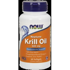 Krill Oil, Krill Oil, Now Foods, 500 mg, 60 Capsules, 03561