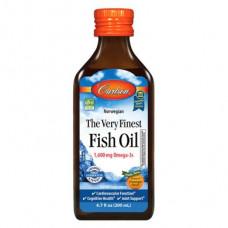 Fish oil, Fish Oil, Carlson Labs, Norwegian, orange, 200 ml, z01153