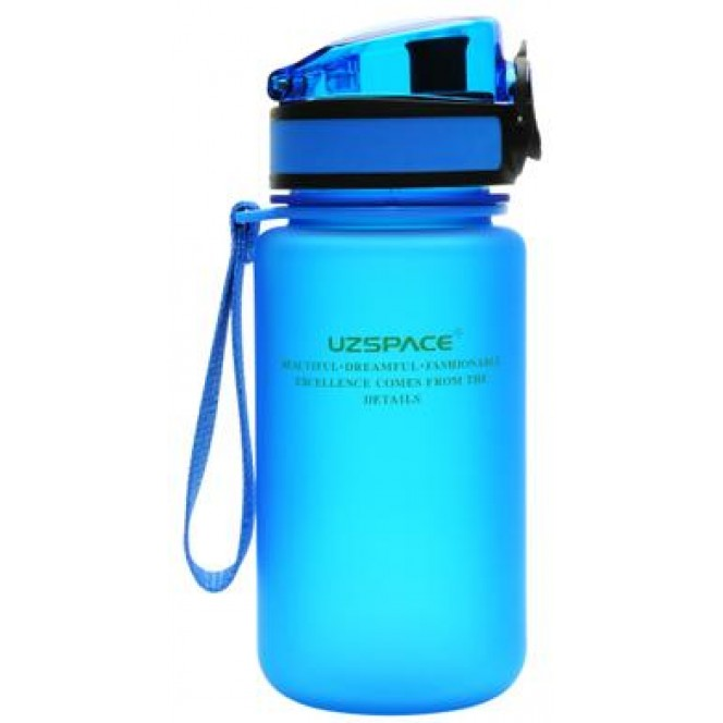 Water bottle, blue, UZspace, 350 ml 339, z01697 .. Discounts, promotions, 100% original products. Worldwide delivery, free shipping, peace, health, cosmetics, fitness