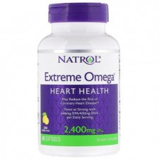 Extreme Omega, Natrol, lemon flavor, 2400 mg, 60 capsules, z04674