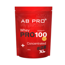 Protein, 100 Whey Concentrated, AB PRO, Peanut Caramel Flavor, 2000 g, Z08570