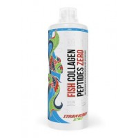 Collagen Peptides & Biotin, Fish collagen + Biotin, MST Nutrition, Strawberry Kiwi Flavor, 1 L, Z09664