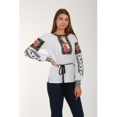 Beautiful embroidered shirt for women on homespun cloth (GNM-02166)
