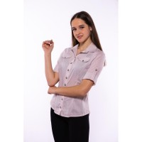 Women's shirt with a classic collar 118P005-4 (Sand) TS-