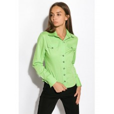 Women's shirt with long sleeves 118P082 (Light green) TS-