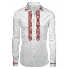 Actual classic embroidered shirt with Ukrainian ornament for men (UMD-0001)