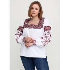 Designer embroidered blouse with gorgeous Ukrainian ornament for women (gbv-17-01)