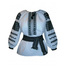 Exclusive embroidered shirt for women, cross stitch and beading (00281)