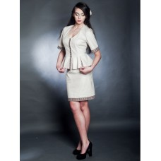 Elegant women's suit with embroidery (gkn-64-62)