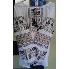 Artistically embroidered linen shirt for women in national style (GNM-01720)