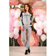 Combined two-thread and diving tracksuit gray-mottled for women (STN-1183)