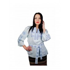 Beautiful blouse with blue embroidery (M-211-3)