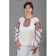 Beautiful women's blouse embroidered with red and black threads (gbv-35-02)