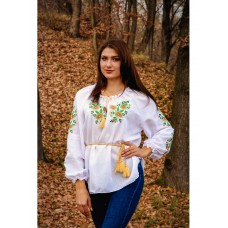 Beautiful embroidered blouse for women with flowers (GNM-00510)