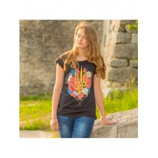 Colorful T-shirt for women with national print