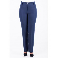 Discreet Blue Tory Pants with Classic Design for Women (SZ-0310)