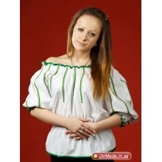Women's embroidery, green embroidery (gb-021-15)