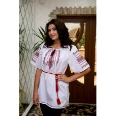 Women's shirt-embroidered shirt with short sleeves (00109)
