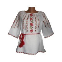 Womens Embroidered Blouse with Flowers (GNM-00507)